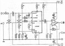 schema electronica LM1496 dublor de frecventa