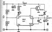 Schema regulator ridicator de tensiune cu MAX641
