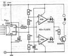 Schema electronica circuit  detector de infrarosii cu PID20