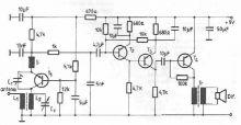 Schema electronica radioreceptor unde scurte