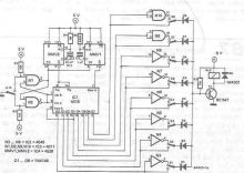 Schema electronica Cifru electronic CMOS cu un singur buton