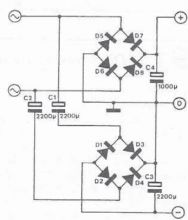 Sursa de tensiune dubla schema electronica