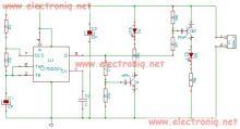 Schema electronica Tester tranzistori bipolari cu timer 555 .