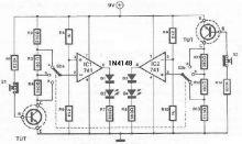 schema electronica Tester amplificare tranzistori