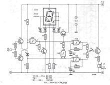 schema electronica Tester logic cu afisaj cu sapte segmente