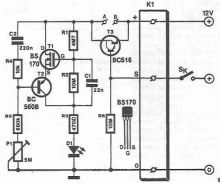 Schema electronica LED flasher cu tranzistori