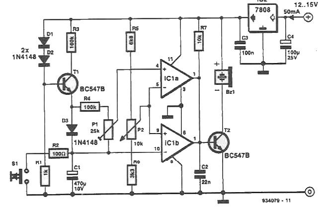 Circuit de temporizare realizat cu amplificatoare operationale