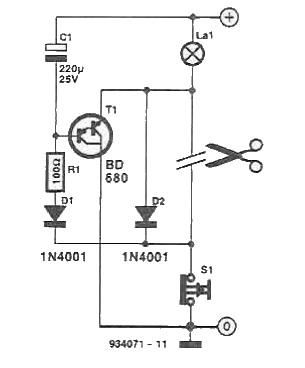 Circuit intarziere stingere lumini