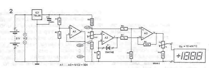 Schema termometru electronic cu AO