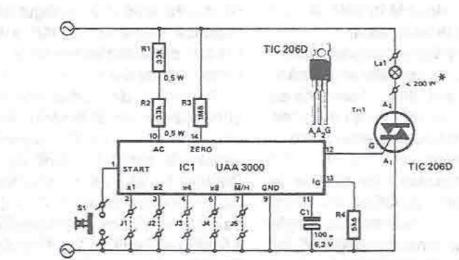 Schema electronica Circuit de temporizare cu UAA3000
