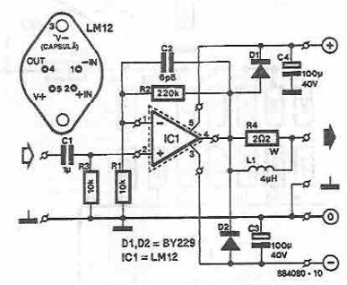 Schema Amplificator 150W cu LM12