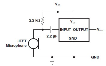 schema electronica Amplificator de microfon electret cu TLV1018