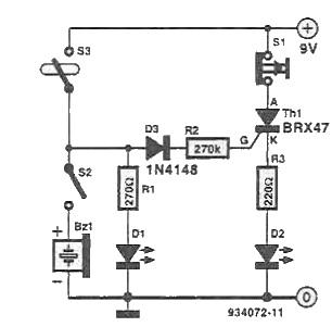 Avertizor elctronic pentru pescuit circuit