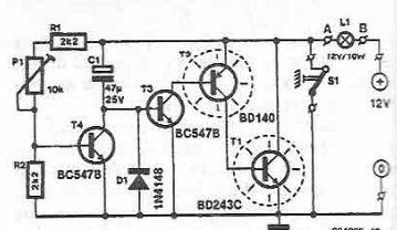 Circuit de temporizare cu tranzistori