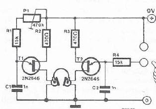 schema electronica Detector de minciuni cu biofeedback