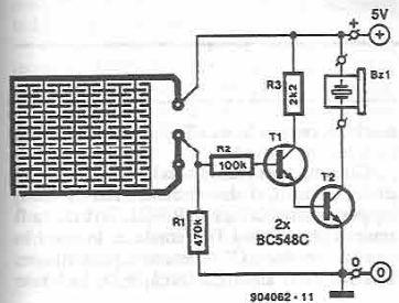 Schema detector de lichid cu tranzistori