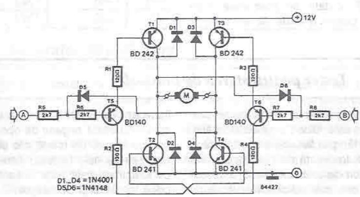 schema electronica Driver motor 12 volti cu tranzistori