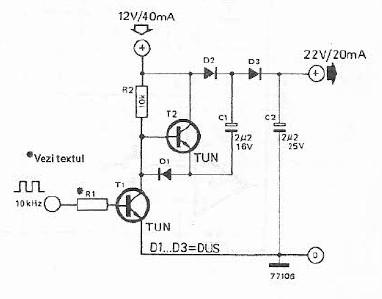 Schema electronica dublor de tensiune cu tranzistori