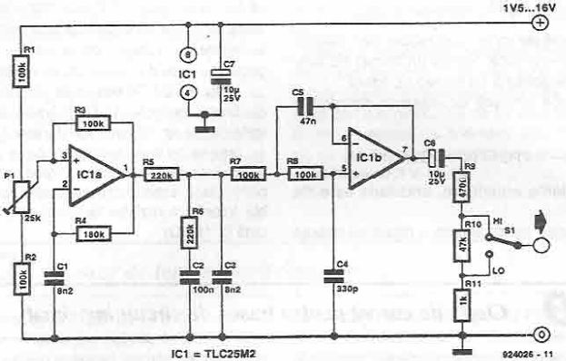 Schema generator de semnal sinusoidal