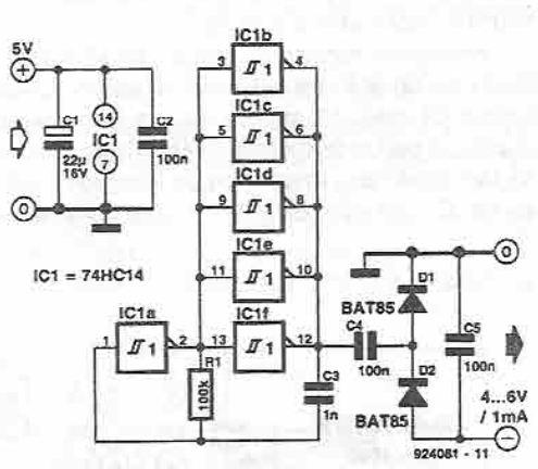schema Inversor de tensiune cu 74HC14