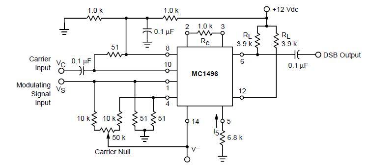 schema modulator balansat mc1496