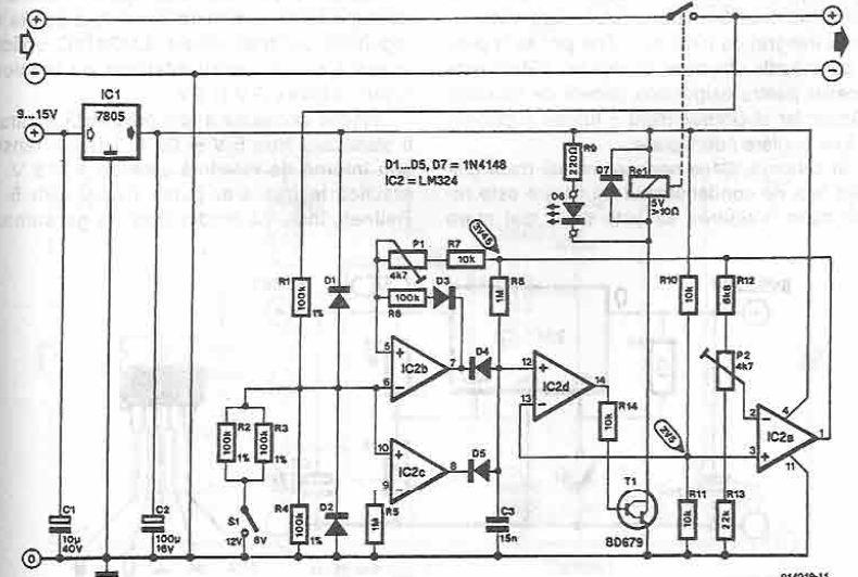 Schema incarcator cu conectare deconectare automata
