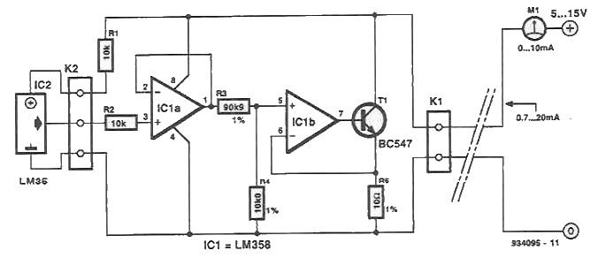 Interfata masurare temperatura pentru multimetru