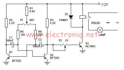 schema electronica Jocuri de lumini cu tranzistoare