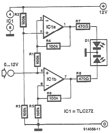 schema electronica Driver LED bicolor