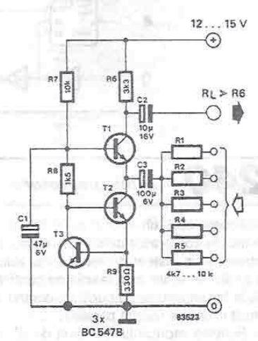 Schema mixer audio cu tranzistori