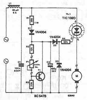 schema Regulator turatie masina de gaurit