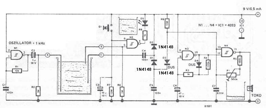 Schema hidro alarma electronica