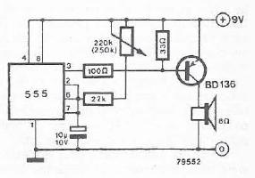 Schema electronica metronom cu timer 555