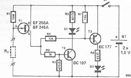Schema electronica indicator continuitate