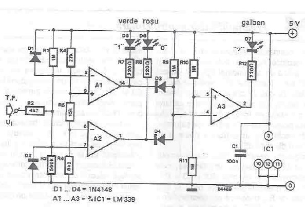 Schema electronica Tester TTL