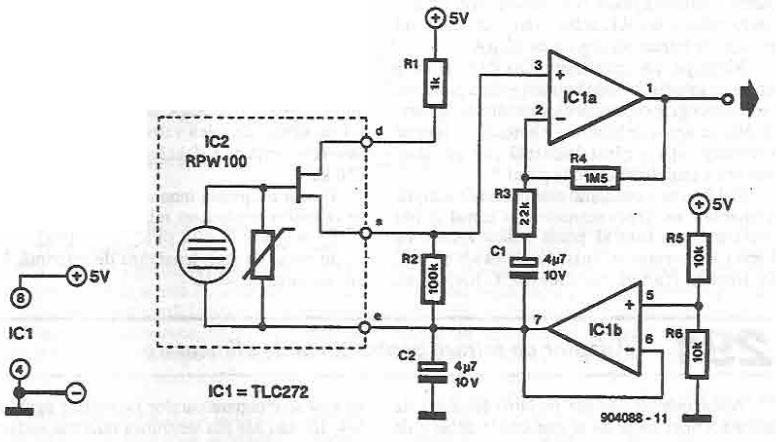 Detector de prezenta cu senzor de temperatura