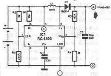 schema electronica Sursa in comutatie 9 volti cu RC4193
