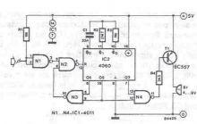 schema electronica Alarma cu declansare intarziata