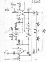 Schema electronica Amplificator audio cu LM2896
