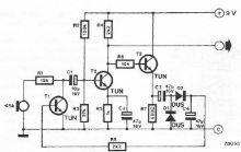 Schema electronica amplificator de microfon