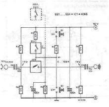 Schema electronica comutator electronic pentru semnale audio