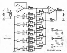 Schema Egalizator stereo pe 5 benzi