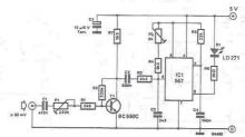 schema Emitator infrarosu semnal audio