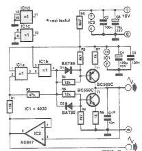 Circuit generator de semanl triunghiular