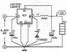 schema Sursa comutatie 5v LM1575 LM2575