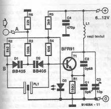 schema Radio emitator de telecomanda