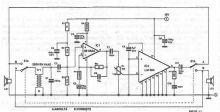 Schema interfon pentru comunicatie duplex
