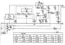 Schema electronica circuit Limitator de putere audio