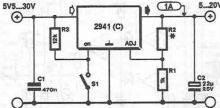 schema electronica Regulator tensiune LM2941