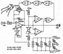 schema electronica Oscilator comandat in tensiune realizat cu OP80